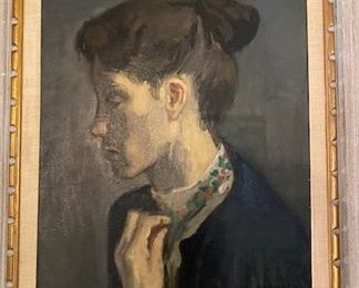 Oil painting by artist Raphael Soyer