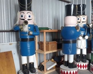Available for pre-sale! 11 ft animatronic nutcrackers  $350 each or make offer for 2 or more.  Call or email us to discuss pricing or place a bid.