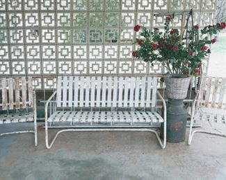 50's iron porch set.