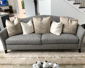 Bernhardt Sofa Gray Tweed pattern