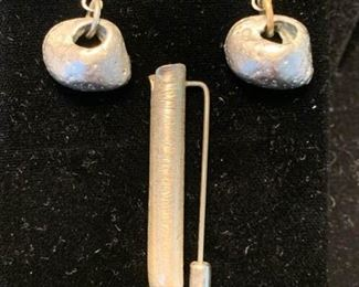 002 Silver Nugget Earrings  Other