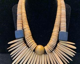 004 Carved Wood Bead Necklaces