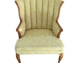 Vintage White / Tan Armchair
