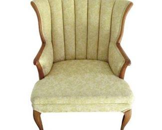 Vintage White / Tan Armchair
