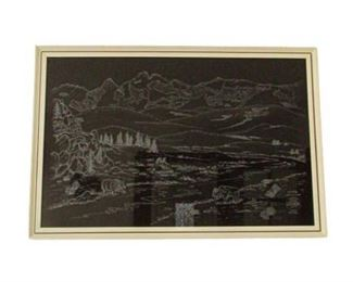 Wilderness Etching by LaDonna Lambert