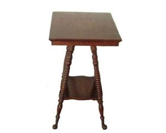 Antique Claw Foot End Table