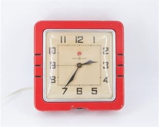 General Electric Red Clock