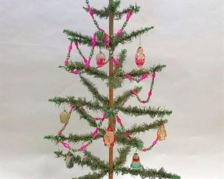 Early Feather Tree, Ornaments, Decorations