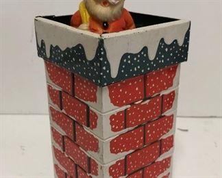 Wind Up Santa In Chimney