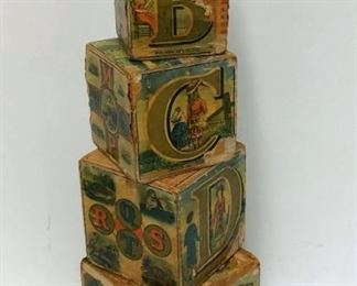 Early Wooden Lithographed Blocks Dated 1881