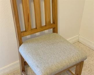 Standard Chair with Star Engraving upholstered