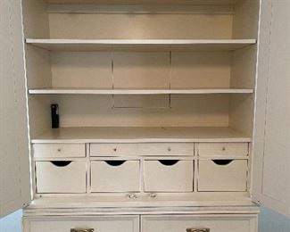 7. Wardrobe shelf and cabinet with drawers by Century Furniture.  High end and just great.  $300