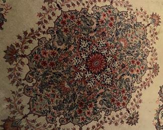 Center design of Persian rug.