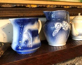 Salt glaze pitchers