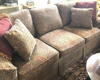 multi -paisley sofa great shape and heavy