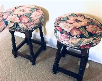 pair of colonial stools