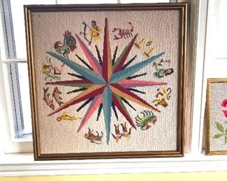 needlepoint astrology signs