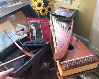 Bowed Psaltery with stand and case