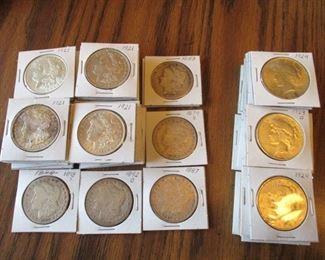 70 Morgan & Liberty Silver Dollars