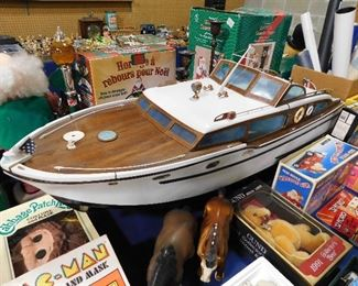 "48"" Wooden Chris Craft Model boat"