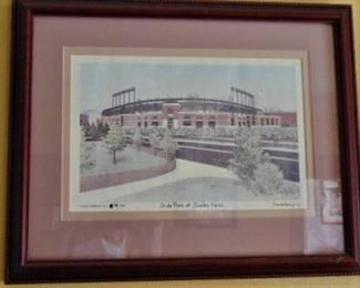 Framed Camden Yards Print