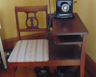 Telephone Bench, vintage telephone (sold separately)