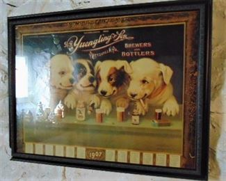 Framed Beer Advertisement Print