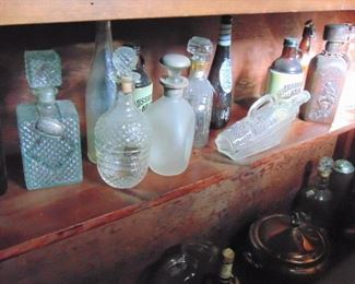 Glass Spirits Decanters and others (sold Separately)