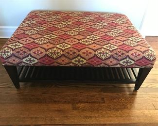 "Baker Ottoman - 44"" W x 33"" D x 16"" H - some issues to wood base 