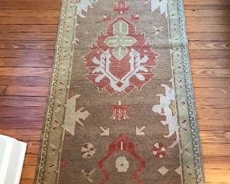 "Asia Minor Basdogan Rug #1 - 2' 6"" x 6' 5"" - some moth damage 