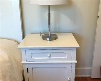 "White Wood Side Table - 23""W x 17""D x 29""H 