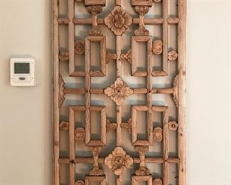 "Carved Wood Wall Art - 19"" W x 41"" H 