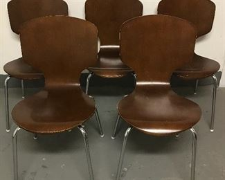 5 West Elm Style Chairs - some in poor condition, as shown | $100 / lot