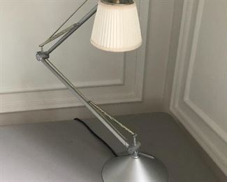 "Flos Inc. Archimoon Telescoping Task Lamp #1 - 18"" high X 20"" wide (approx) when lowered. 33"" high X 16"" wide (approx) when raised 