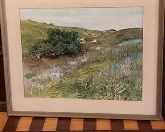 "Framed print of Shinnecock Hills by William Merritt Chase 18"" W X 15' H 