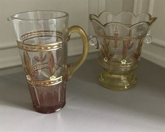 Monica Willard pitcher and ice bucket. Unused | $95 / lot