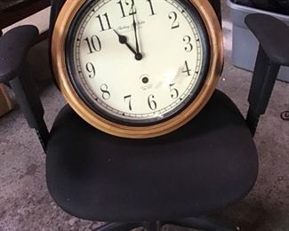 112Office Chair  Clock