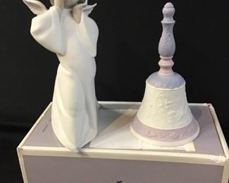 188Lladro Bisque Angel  Bell