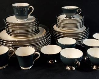 272Gorham  Flintridge Black Contessa China