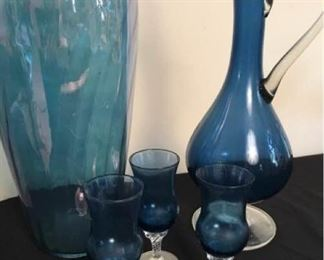 Beautiful Blue Glassware