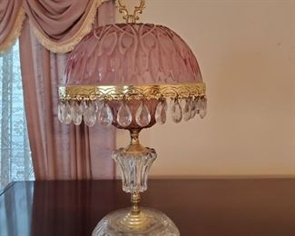 Beautiful Vintage Glass Teardrop Lamp