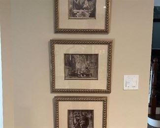 "LOT 6617 Three framed prints 1'6 width "" x 1'4"" height  @ $40 each"