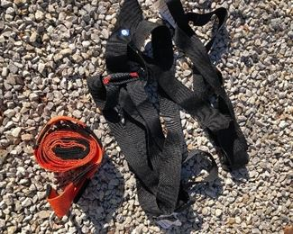 #8) $20 -  Lot of 2 items including 4-inch nylon lifting straps and 2-man harnass system lifting straps