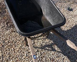 """#10) $30 - True Temper wheelbarrow, hard plastic, 40"""" x 30"""""""