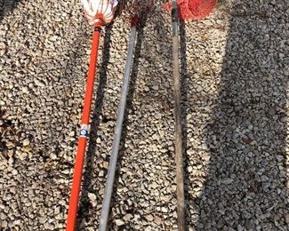 #23) $15 - Lot of 3 hand-held, extension apple pickers
