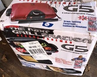 #36) $25 - New in the Box - George Forman, Grilleration, G-5, electric grill/griddle