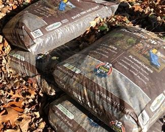 #69) $10 - four bags of rubber mulch.
