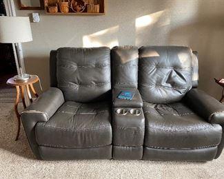 Flexsteel Love Seat/Theater Seating~Leather