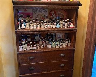 Antique Cabinet & Aunt Jemima Collection