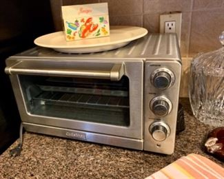 Like new Cuisinart convection toaster oven, vintage recipe tin